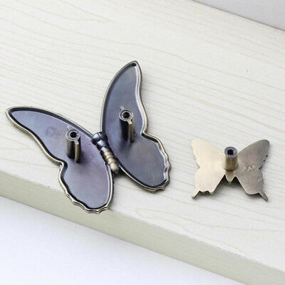Vintage Butterfly Shape Handle Cabinet Drawer Wardrobe Door Knobs Pulls HC