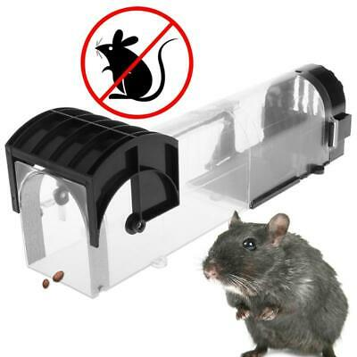 Mouse Mice Rat Automatic Lock Mousetrap Catching Bait Trap Humane Hamster Cage L