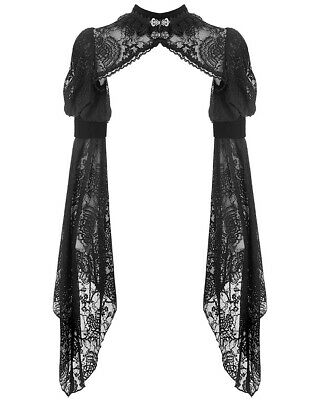 Dark In Love Gothic Bolero Shrug Top Black Lace Velvet Steampunk Victorian Witch