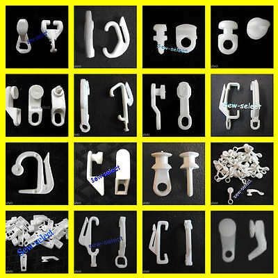 100 Curtain track gliders glide hooks runners pole slides - Rail Tracking parts