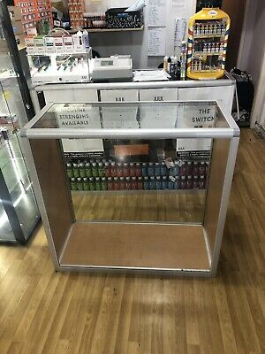 120cm GLASS COUNTER SHOWCASE RETAIL SHOP DISPLAY CABINET WITH LED LIGHTS £100