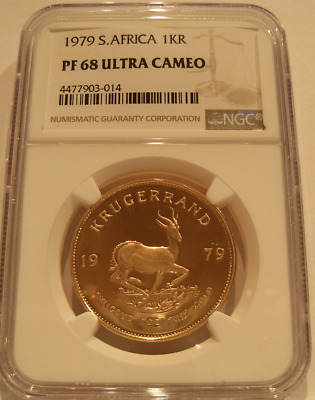 Sud Africa 1979 Oro 29.6ml Krugerrand NGC PF68UC
