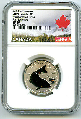 2019 Canada 50 Cent Copper Redhorse Fish Ngc Sp69 First Releases Half Dollar