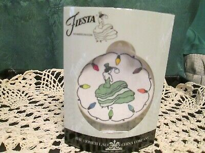 Fiesta Ware MEADOW Green  Dancing Lady Ornament String of Lights 2019 Christmas