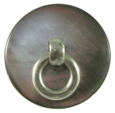 Vintage Smoky Pearl Doorknocker Button w/ Moveable Ring