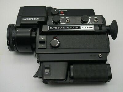 Elmo Super 8 Sound 6000AF Macro Lens 1,8/8-50mm S8 Film Camera Autofocus