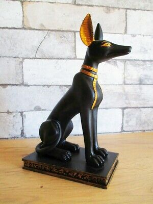 Anubis Jackal Replica Egypt Figure 9 1/8in Polyresin Decor Model