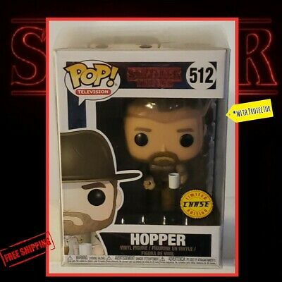 Funko Pop Hopper CHASE Stranger Things Netflix~GREAT Condition w/Protector