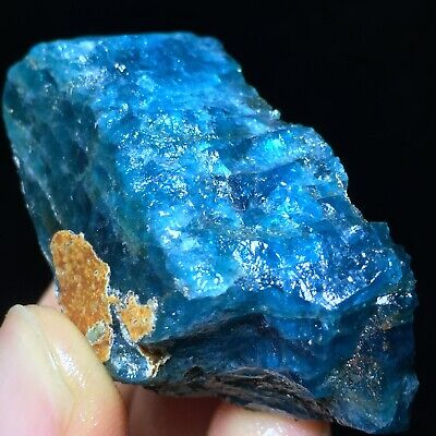 50gTop!! Blue Apatite Natural Rough QUARTZ CRYSTAL Mineral Specimen A71244