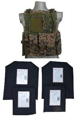 Tactical Scorpion Body Armor Bearcat Carrier Level IIIA Soft Plates  D Woodland