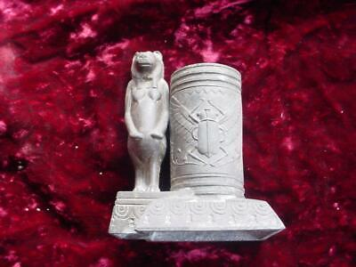 Vintage 1910's 20's Egyptian revival scarab / god figural match toothpick holder
