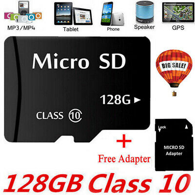 128GB Micro SD Memory Card Flash TF Class 10 SDXC SDHC Card Universal + Adapter