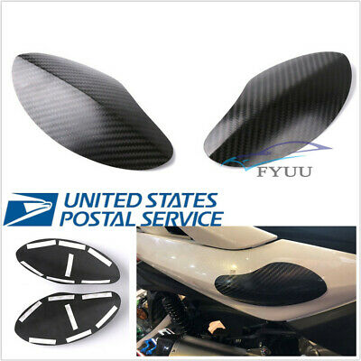 2X Real Carbon Fiber Motorcycle Protective Guard Cover For Yamaha Xmax
