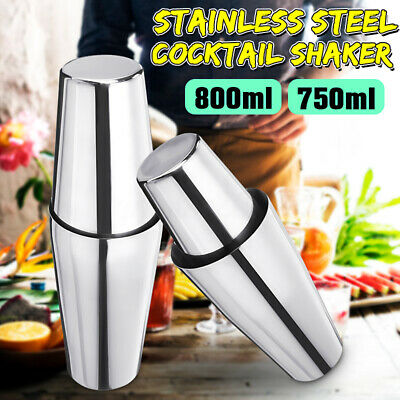 US Stainless Steel Cocktail Shaker Mixer Drink Bartender Martini Tool Bar Cup
