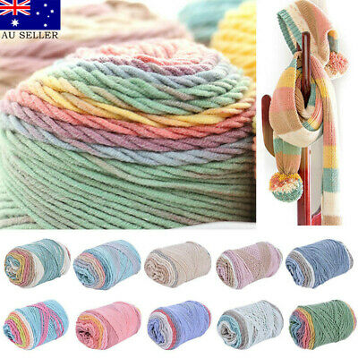 100g Candy Color Soft Style Swirl Cake Wool/Yarn Knitting/Crochet Craft 10 Color