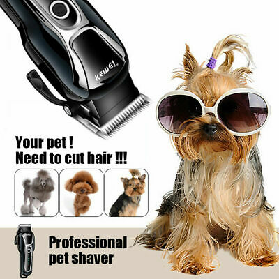 Electrical Rechargeable Cat Dog Hair Trimmer Pet Clipper Cutter Grooming Machine