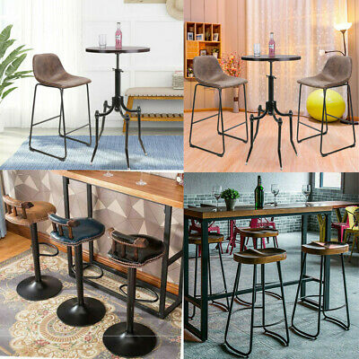Retro Bar Table / Bar Stools Chair Breakfast Kitchen Bistro Cafe Vintage Various
