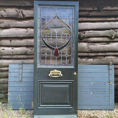 Reclaimed Stained Leaded Glass Period Front Door