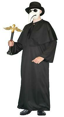 Adults Plague Doctor Top Hat Mantle & Robes Halloween Fancy Dress Costume