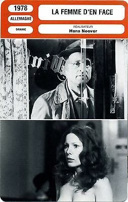 Enchufe Cinéma. Movie Card. el de Mujer ' de Cara (Alemania) Hans Noever 1978