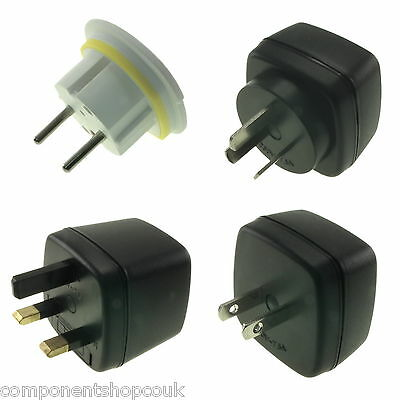 GB 3 Pin a Ue US Au Europa Energía Viaje Adaptador AC Enchufe Pared Convertidor
