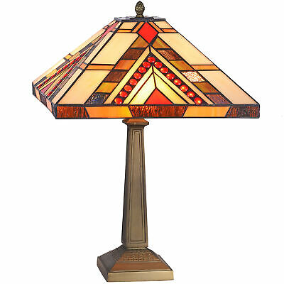 NEW Red Jewelled Square Geometric Table Lamp - Tiffany Emporium,Lamps