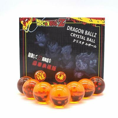 Complete Set of All 7 Stars Dragon Ball Z Crystal Balls Collection Set Gift Box