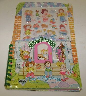 Vintage Cabbage Patch Kids This Is My House Sticker Collection Book 1983 Sealed