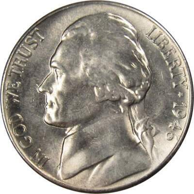 1949 D 5c Jefferson Nickel US Coin Uncirculated Mint State