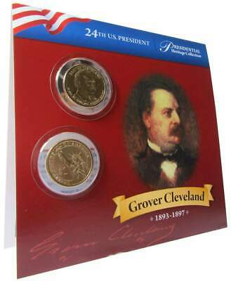 2012 P&D $1 Grover Cleveland 2nd Term Presidential 2 Coin Set Lot Uncirculated
