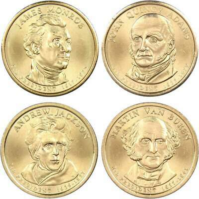 2008 D $1 Presidential Dollar 4 Coin Set Lot Uncirculated Mint State