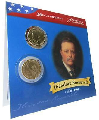 2013 P&D $1 Theodore Roosevelt Presidential 2 Coin Set Uncirculated Bifold