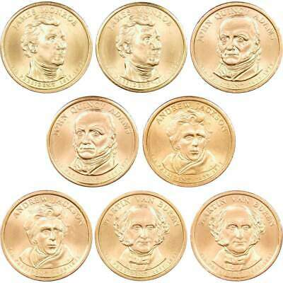 2008 P&D $1 Presidential Dollar 8 Coin Set Lot Uncirculated Mint State