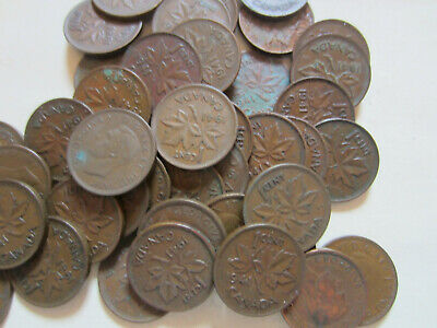 Lot of Canada George VI Small Cents Coins. 15 Pennies of Your Choice