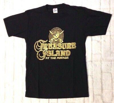 DEADSTOCK vtg 80s MIRAGE treasure island Las Vegas pirate gold casino USA Small
