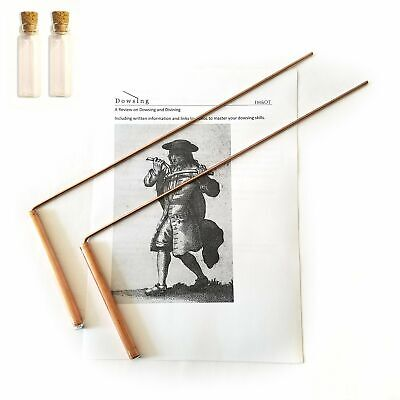 Dowsing Rod Copper -Solid Material 99% - Ghost Hunting Divining Water Gold Bu...