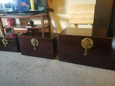 Antiques furniture Chest Set Of 3 cherry wood