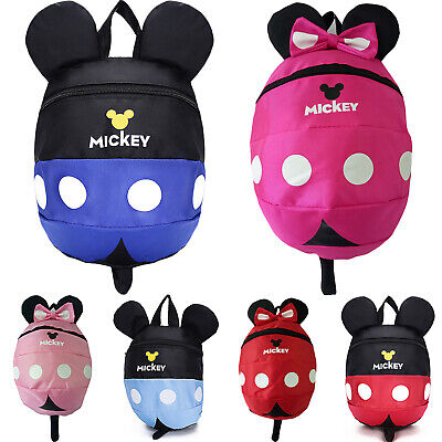 Cartoon Baby Toddler Kids Mickey Safety Harness Anti-lost Bag Travel Backpack