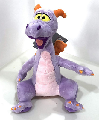 Disney Parks Figment  Epcot Purple Dragon 9 inch Smooth Plush Doll  NEW