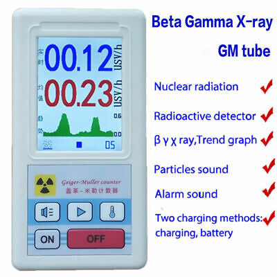 Geiger Counter Beta Gamma X-ray Nuclear Radiation Detector Dosimeter Tester