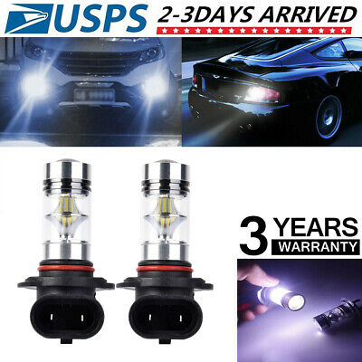 2x 9005 HB3 6000K 100W 2323 LED Projector Fog Driving Light Bulbs White K2Q7