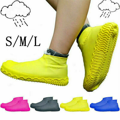 1Pair Silicone Rain Waterproof Shoe Covers Reuse Boot Cover Protector