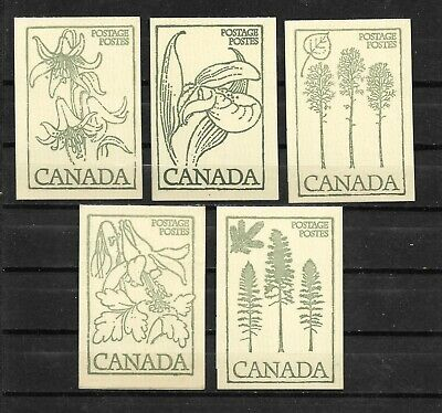 pk45353:Stamps-Canada Lot of 5 #BK78b Floral & Queen Booklets - MNH