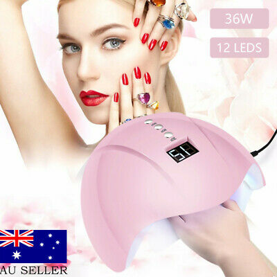 36W 12 Leds USB Nail Lamp UV Sun Light Nail Gel Dryer Curing Polish Machine AU