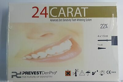 24 Carat advance tooth whitening system 22% carbamide peroxide Prevest Denpro .