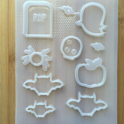 Halloween Shaker Mix Plastic Mold Flexible Mould Food Kawaii Resin Creepy Cute