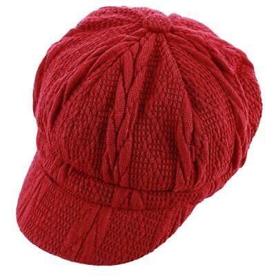 Vogue Women Beret Hat Cap Knitted Ski Hats Octagonal Caps Warmer Supplies New LA