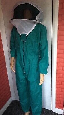 FmartUk beekeeping suit Green/Round Veil/180GSM Polly Cotton/ Size Large