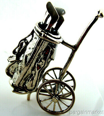 Sterling Silver Miniature Golf Caddy Paper Weight #465