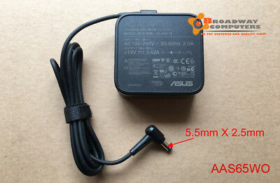 Original AC Adapter Charger for ASUS Laptop ADP-65JH BB 19V 3.42A 5.5mmx2.5mm